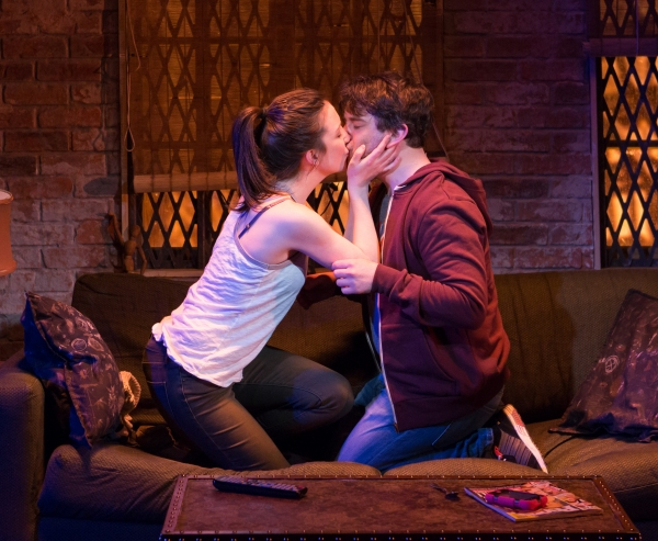 Alex Brightman (Jonah) and Jessica Hershberg
