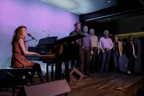 Randi Driscoll and members of the Gay Men's Chorus of LA Photo