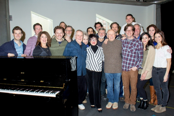 John Kander and the cast of THE VISIT