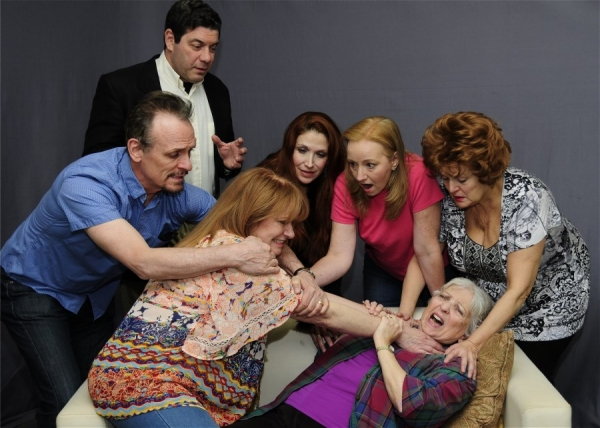 Clifton Lewis, Howell Mayer, Nina Lionetti, Debbie Zika, Rachel Gordon and (on couch) Photo