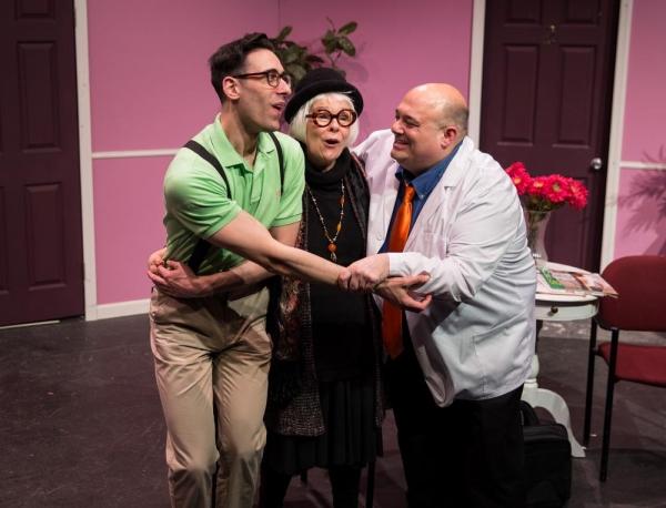 Budd (Joey Mirabile), Eyphah (Karen Lynn Gorney), Dr. Roe Wade (Peter Zachari) Photo