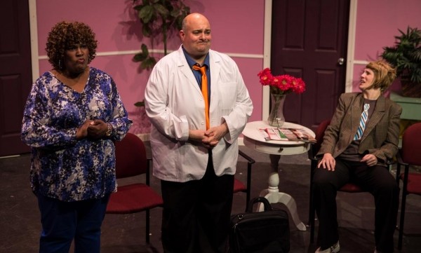 Cora (Itanza Wooden), Dr. Roe Wade (Peter Zachari), Violet (Lori Funk) Photo