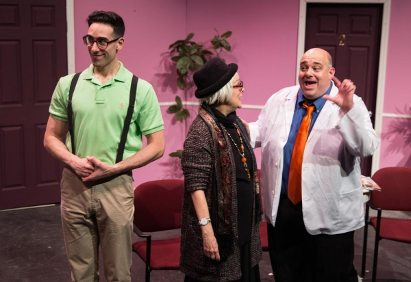 Budd (Joey Mirabile), Eyphah (Karen Lynn Gorney), Dr. Roe Wade (Peter Zachari) Photo