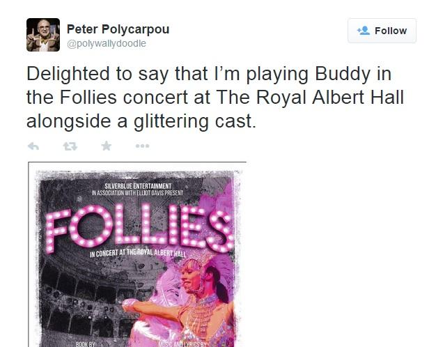 Peter Polycarpou Joins Cast Of FOLLIES Concert To Play 'Buddy'!