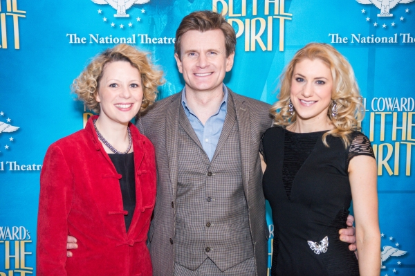 Charles Edwards is happily caught between his two stage wives, Melissa Woodbridge and Charlotte Parry