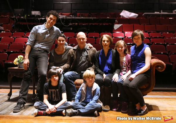 The cast: Joel Perez, Beth Malone, Oscar Williams, Michael Cerveris, Zell Steele Morrow, Judy Kuhn, Sydney Lucas and Emily Skeggs