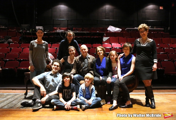 The company: Beth Malone, Joel Perez, Sam Gold, Jeanine Tesori, Oscar Williams, Michael Cerveris, Zell Steele Morrow, Judy Kuhn, Sydney Lucas, Emily Skeggs and Lisa Kron