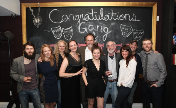 Cast members MacLeod Andrews, Sarah Shaefer, Producer Wendy vanden Heuvel, Weathervane Productions, cast members Addie Johnson and John Wojda, Playwright Charlotte Miller, Producer David Van Asselt, Rattlestick Playwrights Theatre, cast member Samantha So