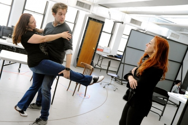 Photo Flash: In Rehearsal for World Premiere of NATIONAL PASTIME at Bucks County with Hunter Foster, Will Blum & More