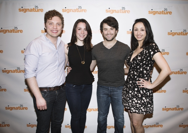 Joshua Morgan, Jessica Hershberg, Alex Brightman and Natascia Diaz Photo