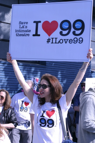 Photo Flash: French Stewart, Daisy Eagan, Frances Fisher and More at Pro-99 Rally in NoHo