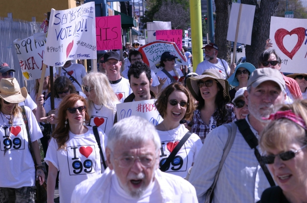 Pro-99 rally in NoHo on March 23, 2015