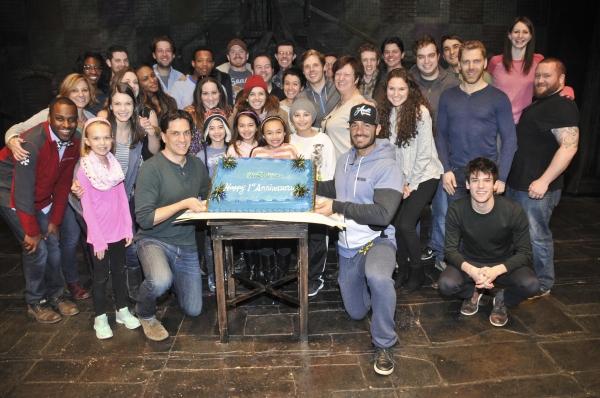 Photo Flash Cast Of Les Miserables Celebrates First