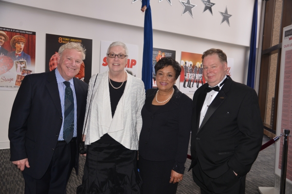 Andrew Wolf, Director, City of New Haven Department of Arts Culture & Tourism;  Liz Fisher, Managing Director,  International Festival of Arts & Ideas; Mayor Toni Harp, City of New Haven; and John Fisher, Executive Director, Shubert Theatre