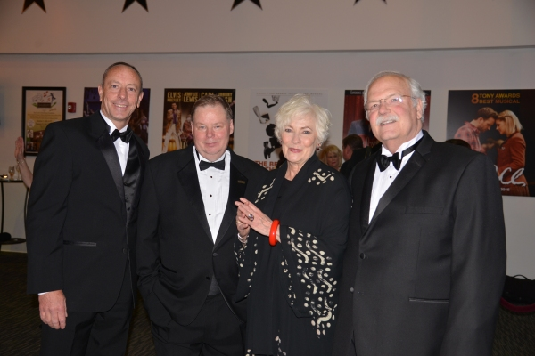 Kevin Burke, Chair, Shubert Board of Directors; John Fisher, Executive Director, Shubert Theatre; Betty Buckley; and Don Chaffee, Shubert Board Chair Emeritus