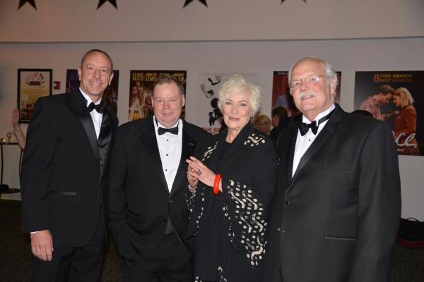 Kevin Burke, Chair, Shubert Board of Directors; John Fisher, Executive Director, Shubert Theatre; Betty Buckley; and Don Chaffee, Shubert Board Chair Emeritus
