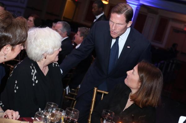 Senator Richard Blumenthal, State of Connecticut; Betty Buckley and Cathy Brighenti