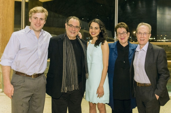 Harlan Work, Edward Gero and Kerry Warren with Artistic Director Moly Smith and playwright John Strand