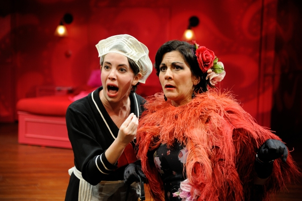 Elise LeBreton as Eugenie and Angela Brazil as Lucienne Homenides de Histangua