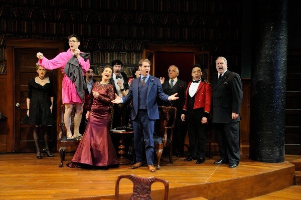 The cast of Georges Feydeau's A FLEA IN HER EAR at Trinity Rep