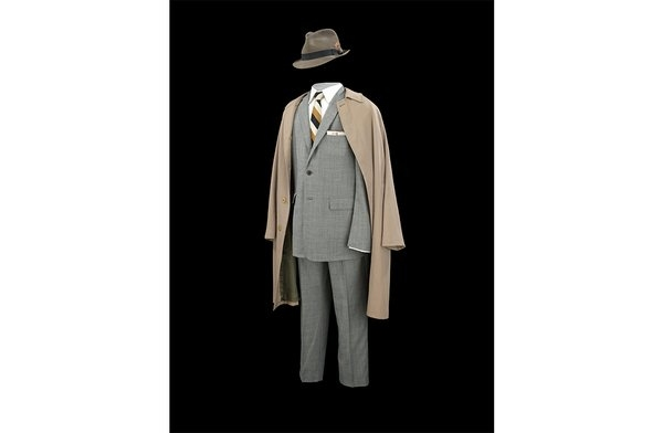 Don Draper''s signature grey suit and fedora from Season 7 (National Museum of American History)