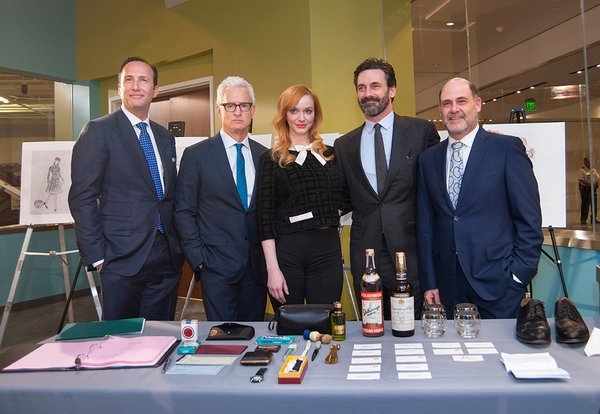Charlie Collier, John Slattery, Christina Hendricks, Jon Hamm, Matthew Weiner (Richard Strauss, National Museum of American History)