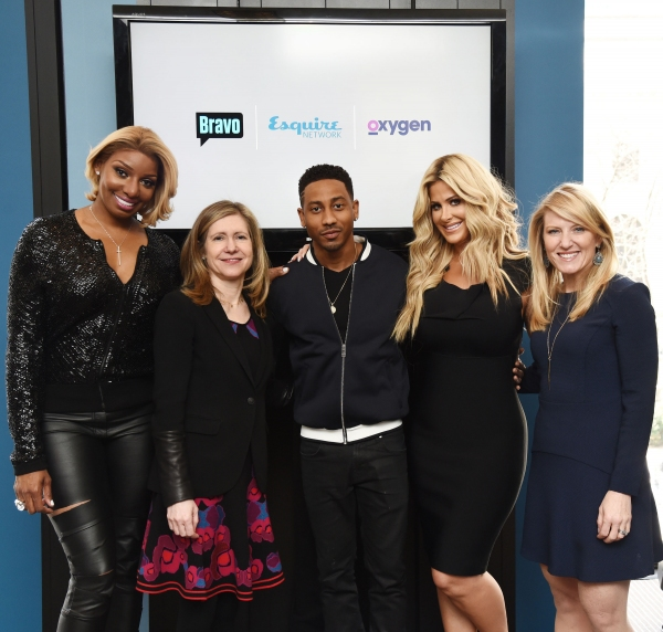 NeNe Leakes, Star of Bravo''s upcoming series ''NeNe and Kim: Road to Riches'', Frances Berwick, President, Lifestyle Networks, NBCUniversal Cable Entertainment, Brandon T. Jackson, Star of Oxygen''s ''Living With Funny'' and Esquire Network''s ''Comedian