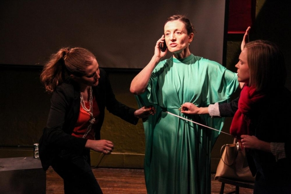 Abby Stark, Mary Jo Bolduc and Jillann Morlan in THE FITTING by Laura Nessler, directed by Shandee Vaughan