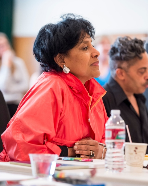 Photo Flash: In Rehearsal with Phylicia Rashad, Bryan Terrell Clark, Shanesia Davis and More for IMMEDIATE FAMILY at the Taper