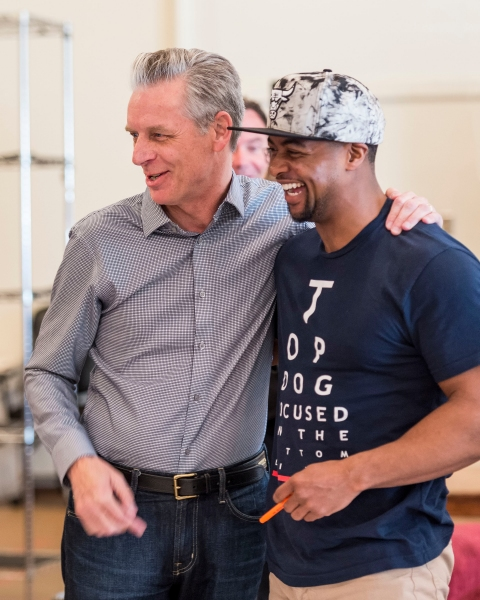 CTG Artistic Director Michael Ritchie and cast member Kamal Angelo Bolden