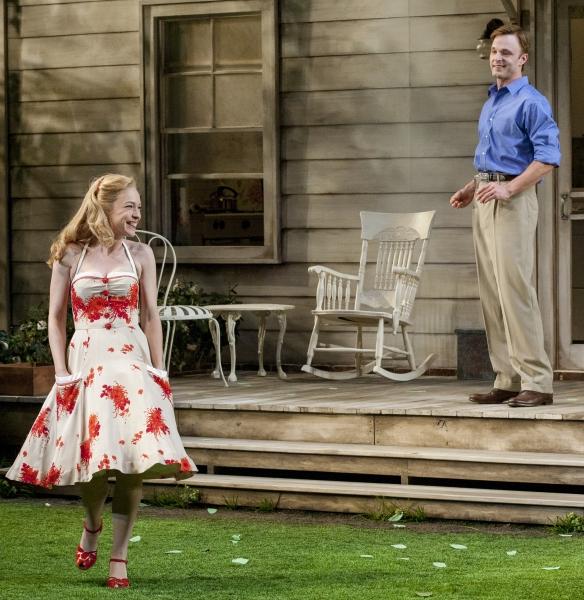 Elizabeth Bunch as Ann Deever and Jay Sullivan as Chris Keller Photo