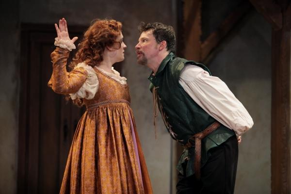Kelly Mengelkoch as Kate and Nicholas Rose as Petruchio