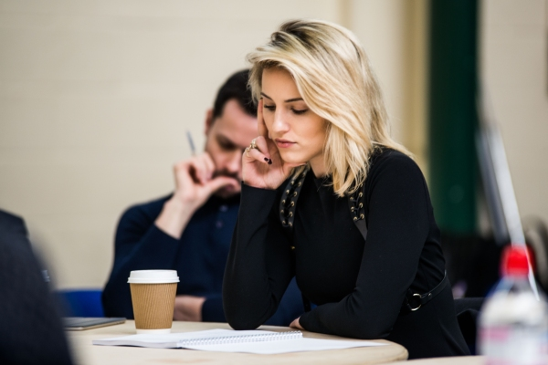 Photo Flash: In Rehearsal with Dianna Agron, Stephen Wright and More for MCQUEEN at St. James Theatre