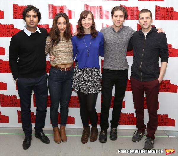 Kunal Nayyar, Annapurna Sriram, Erin Darke, Michael Zegen and playwright Jesse Eisenberg
