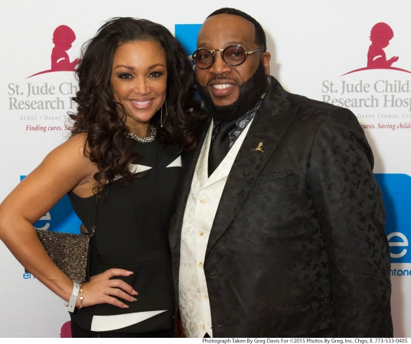 Artists Chante Moore and Marvin Sapp attend the eOne Music post-Stellar Awards Celebration.