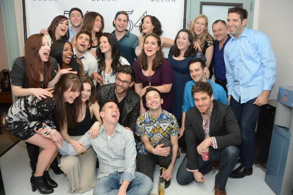 A mid-laugh photo with the cast of BROADWAY LOVES SAM SMITH