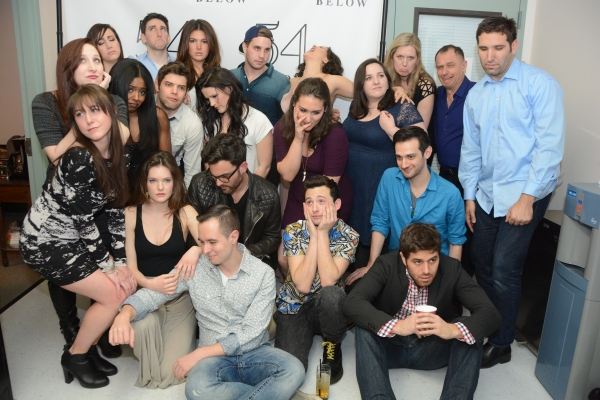The cast of BROADWAY LOVES SAM SMITH strikes their best ''Lonely Hour'' pose. Photo