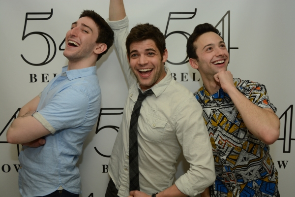 Former NEWSIES star Ben Fankhauser, Jeremy Jordan, and Daniel Quadrino.