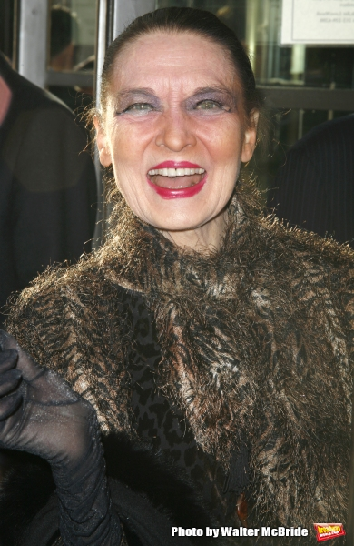 Julie Wilson arriving for the Opening Night Performance of LOVEMUSIK at the Biltmore Theatre in New York City. May 3, 2007