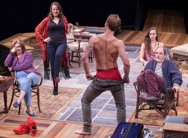 Sherri L. Edelen as Sonia, Grace Gonglewski as Masha, Jefferson Farber as Spike, Rachel Esther Tate as Nina and Eric Hissom as Vanya