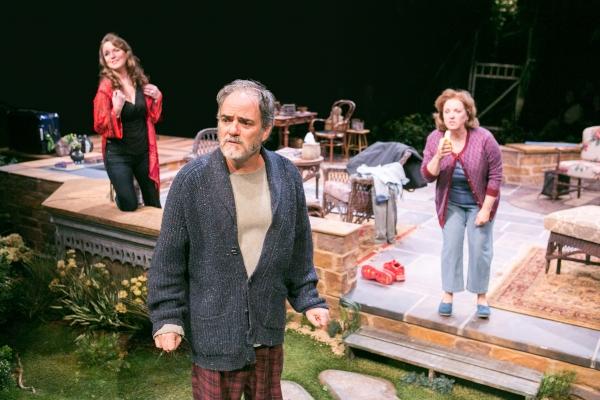 Grace Gonglewski as Masha, Eric Hissom as Vanya and Sherri L. Edelen as Sonia