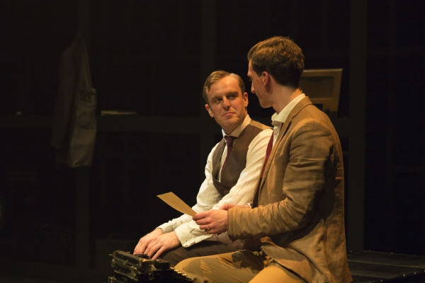 Jo Parsons (left) as Nathan Leopold Ben Woods (right) as Richard Loeb