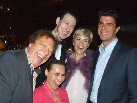 Robert R. Blume, Nighthawks band member, Olga Papkovitch, Adrienne Haan and Steve Mag Photo