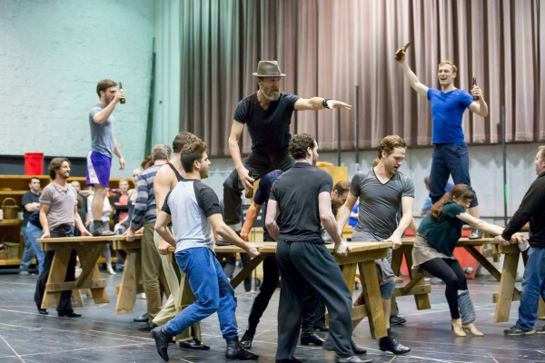 Photo Flash: In Rehearsal for Lyric Opera's CAROUSEL with Laura Osnes and Steven Pasquale!