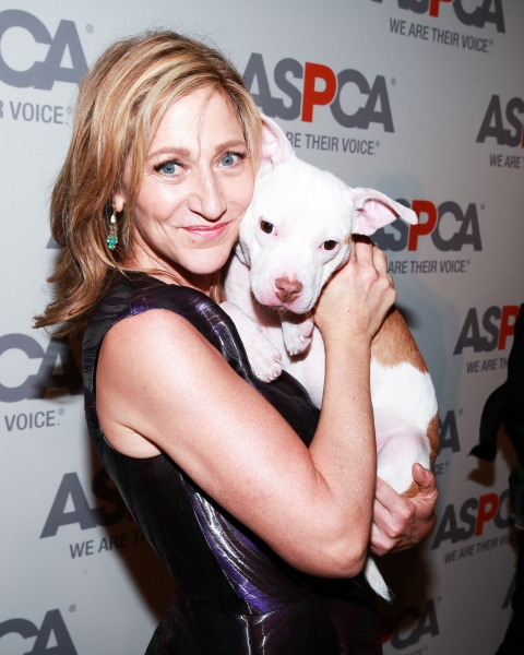 Edie Falco and a friend