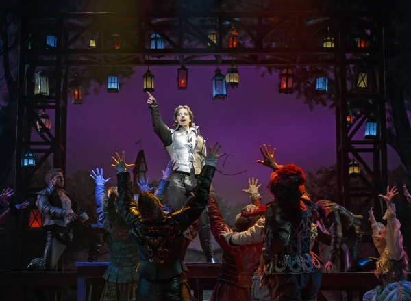 Christian Borle (center) and the cast of SOMETHING ROTTEN!