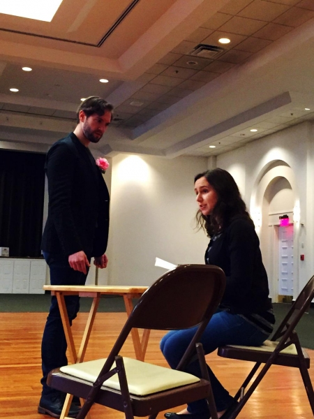 James Parenti as Algernon and Laura Hankin as Cecily