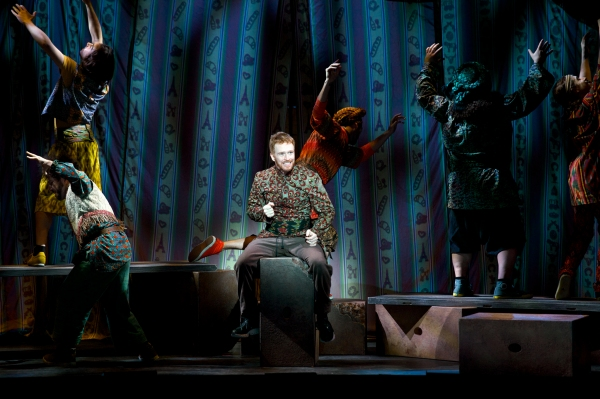 Paul Castree as Simeon, and Company in ''Those Canaan Days''