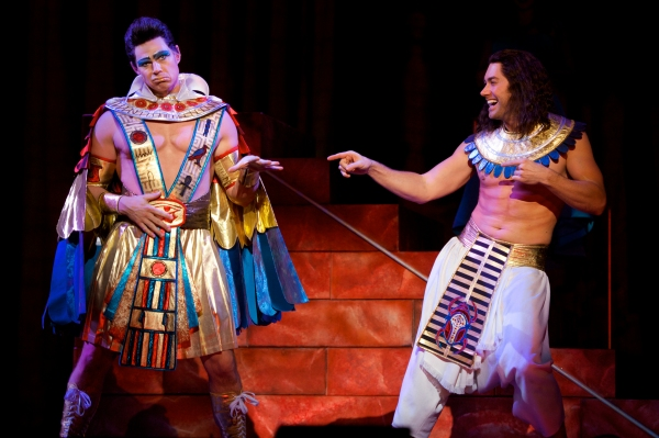 Ryan Williams as Pharaoh and Ace Young as Joseph in ''Stone the Crows''