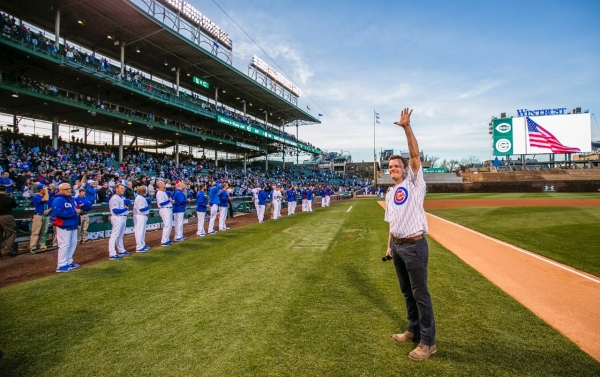THE BOOK OF MORMON star David Larsen (Elder Price) sings the Chicago Cubs National Anthem.